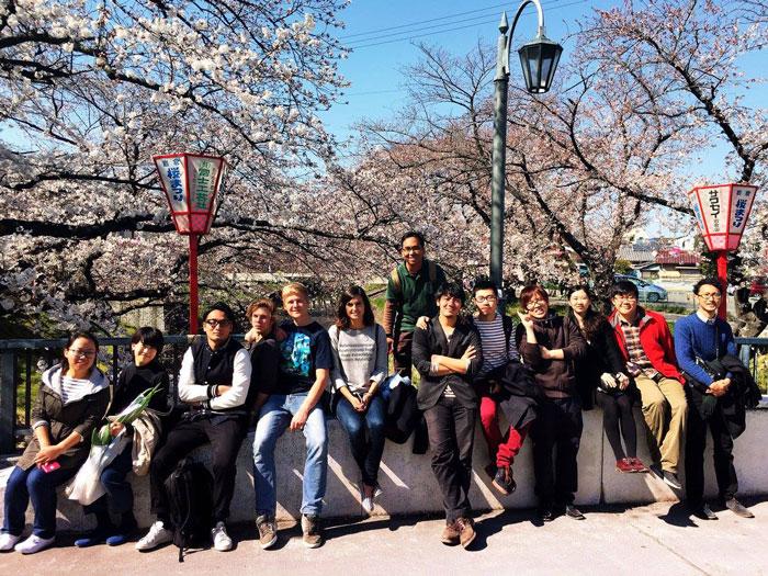 Sakura en Nagoya (Japón)