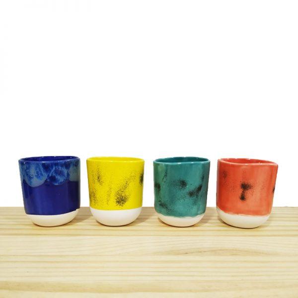 Tazas artesanales de cerámica