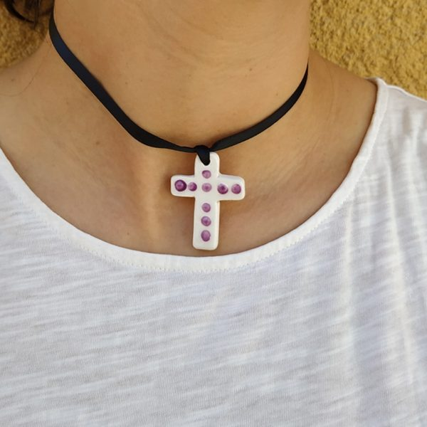 Colgante cruz fallera y huertana